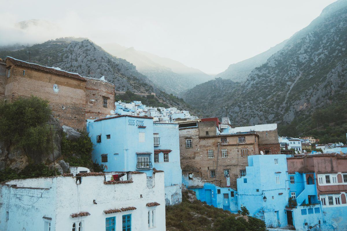 awesome places to go in Morocco include views of Chefchaouen's blue medina