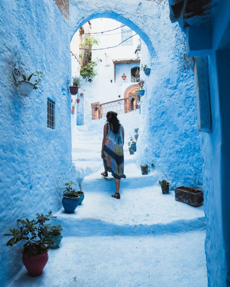best places to visit in Morocco Chefchaouen the blue ciety
