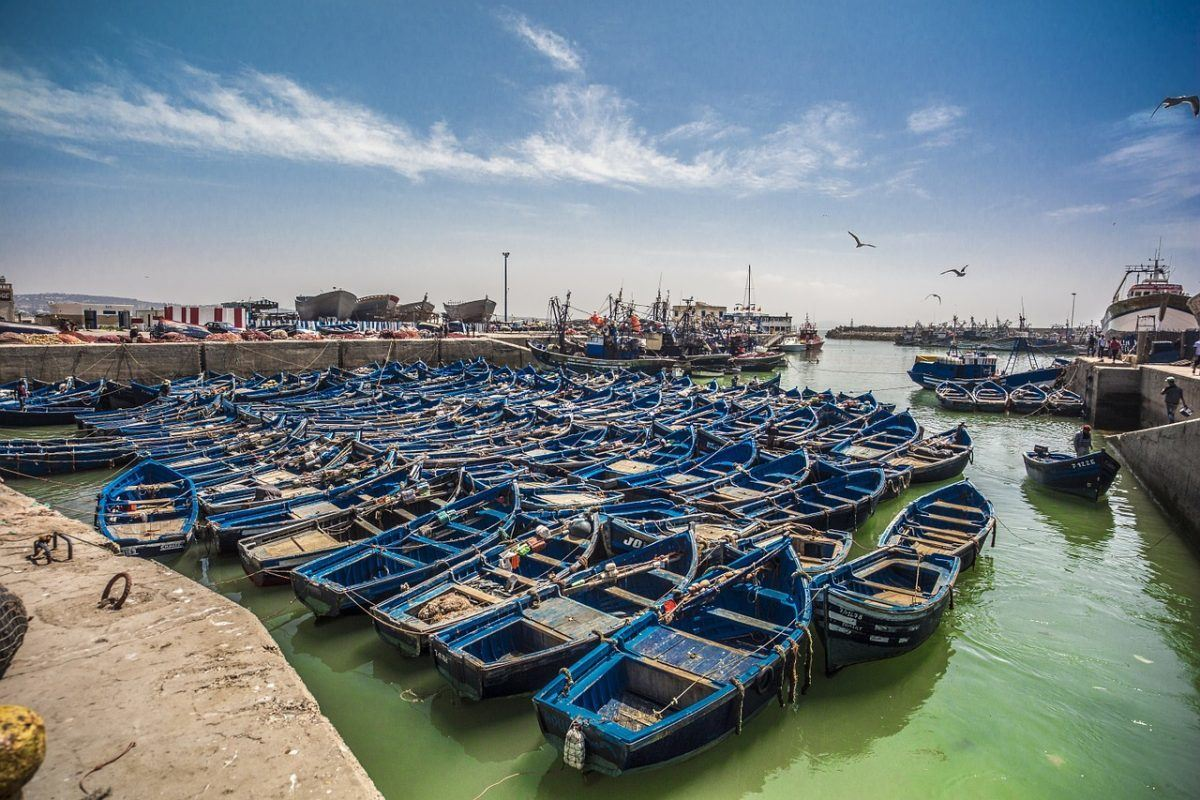 Essaouira Morocco Port while backpacking Morocco
