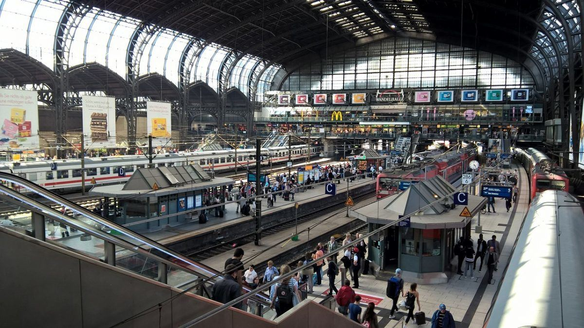 Hamburg Germany Train Station