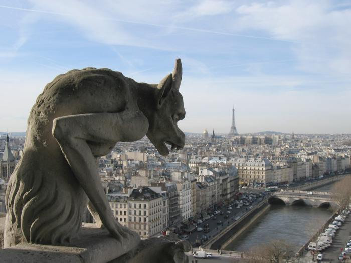 Notre Dame Cathedral Gargoyle - once the best place to visit in Paris