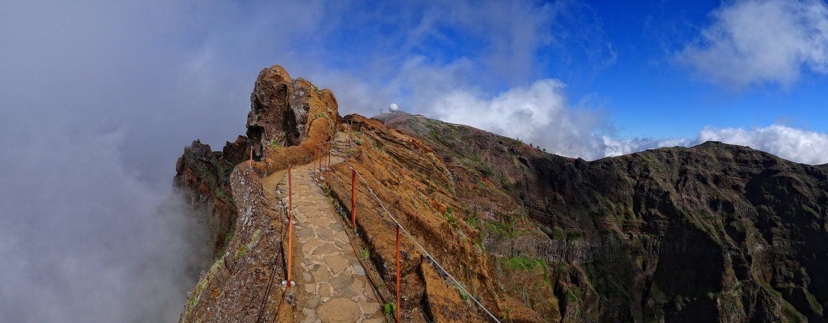 The summit of pico arieiro in madeira portugal