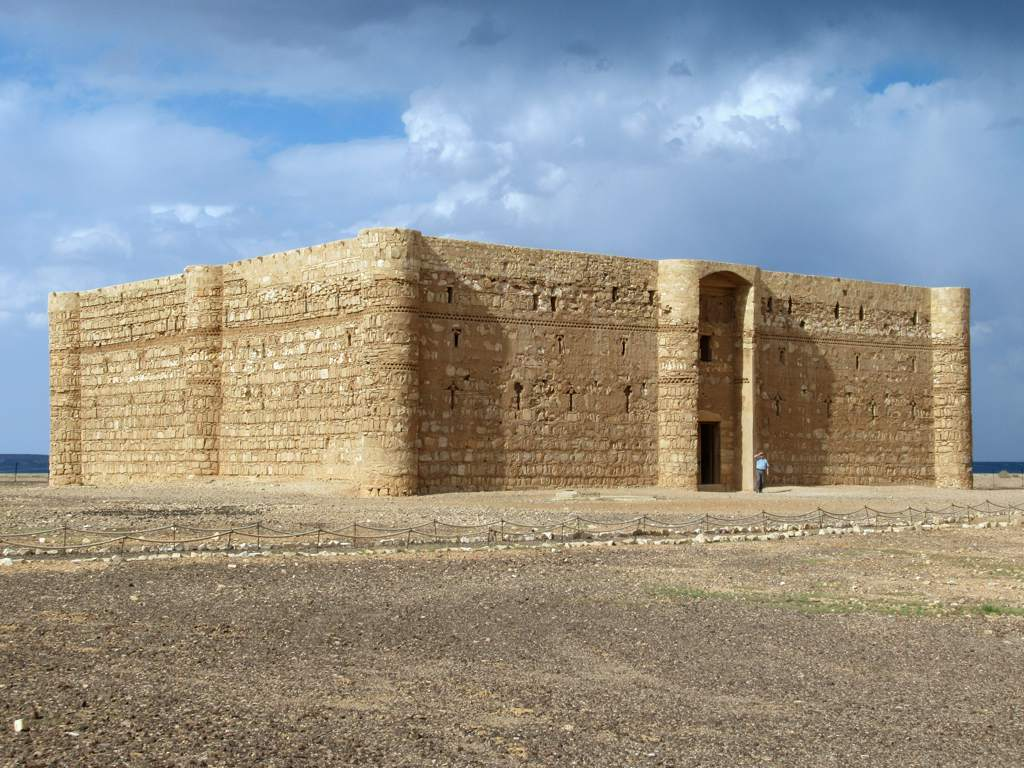 Qasr-Al-Kharran in the eastern desert of jordan