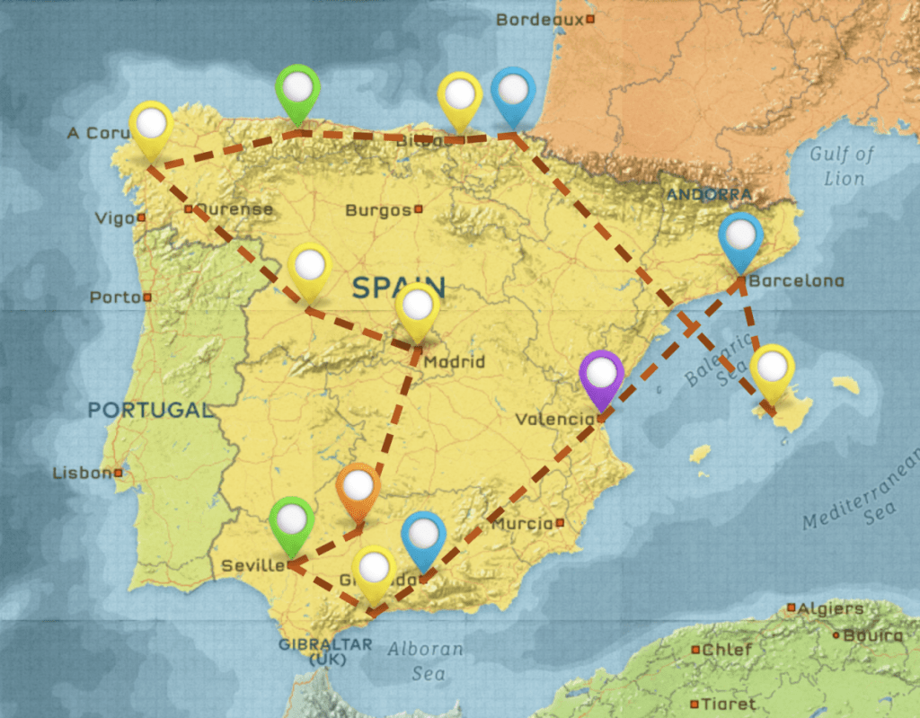 ultimate one month Spain travel itinerary