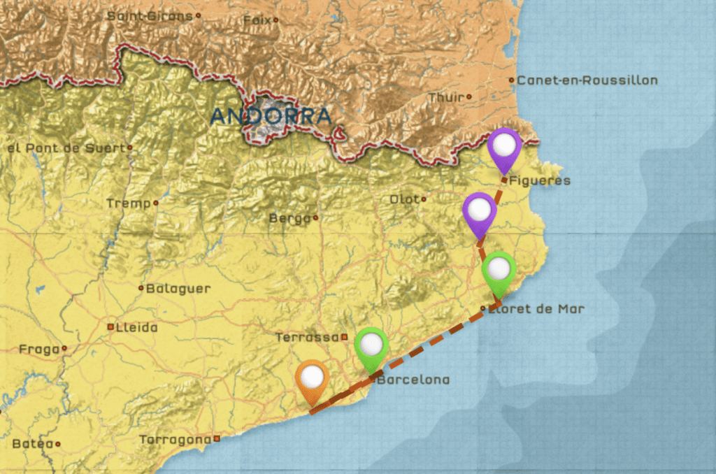 Barcelona and around Itinerary