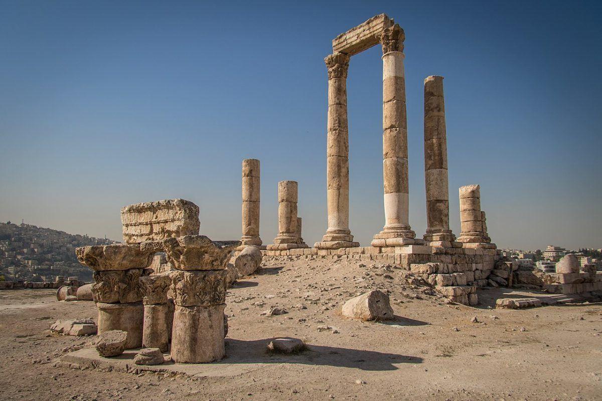 the temple of hercules in amman jordan