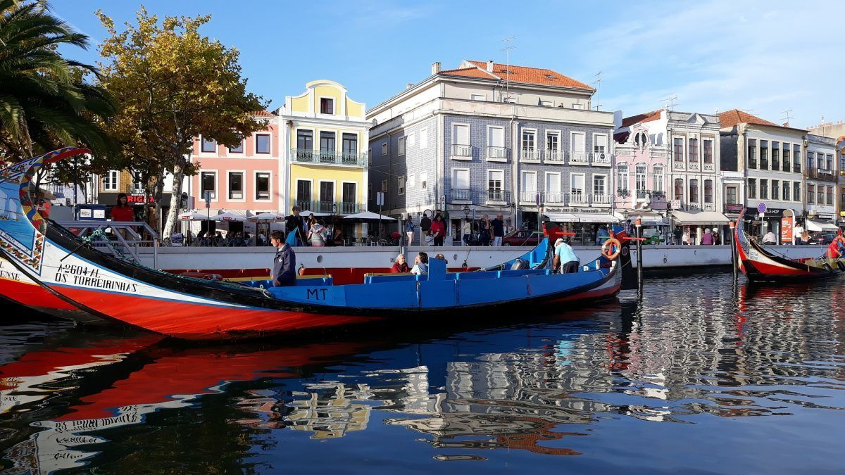 The canals and gondolas of Aveiro portugal