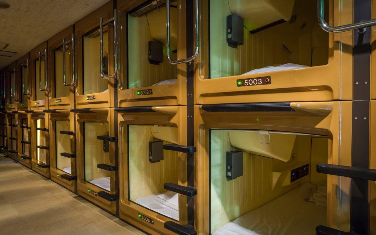 Capsule Hotel Kobe Sannomiya best hostels in Kobe