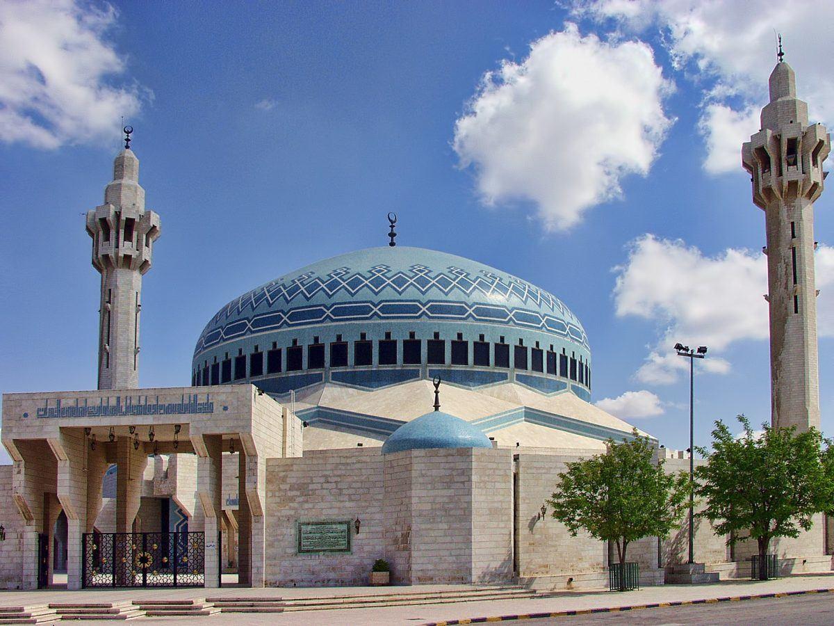 blue mosque of amman abdullah i