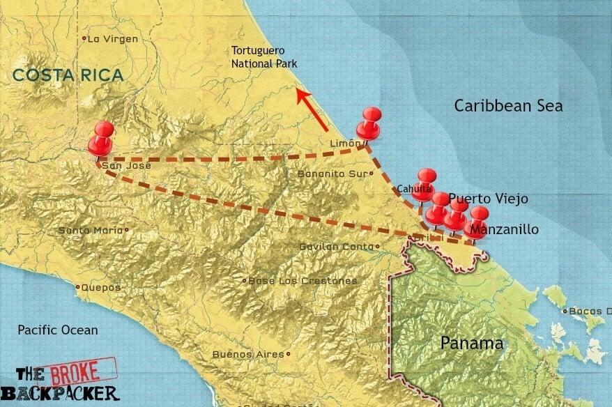 costa rica travel itinerary