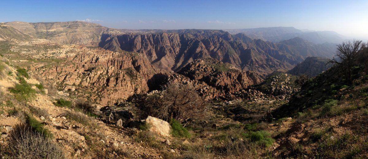Hiking in Jordan at the Dana biosphere reserve