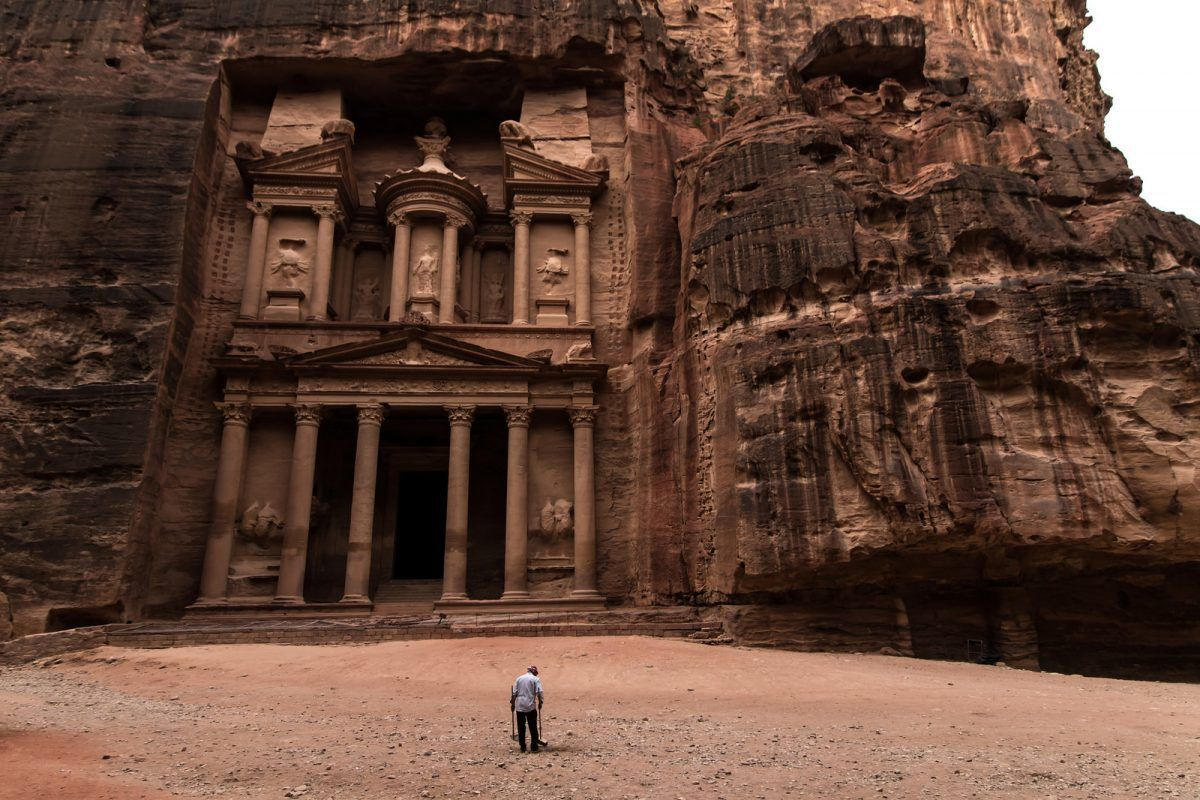Petra - famous tourist attraction in Jordan - quiet during COVID international travel restrictions