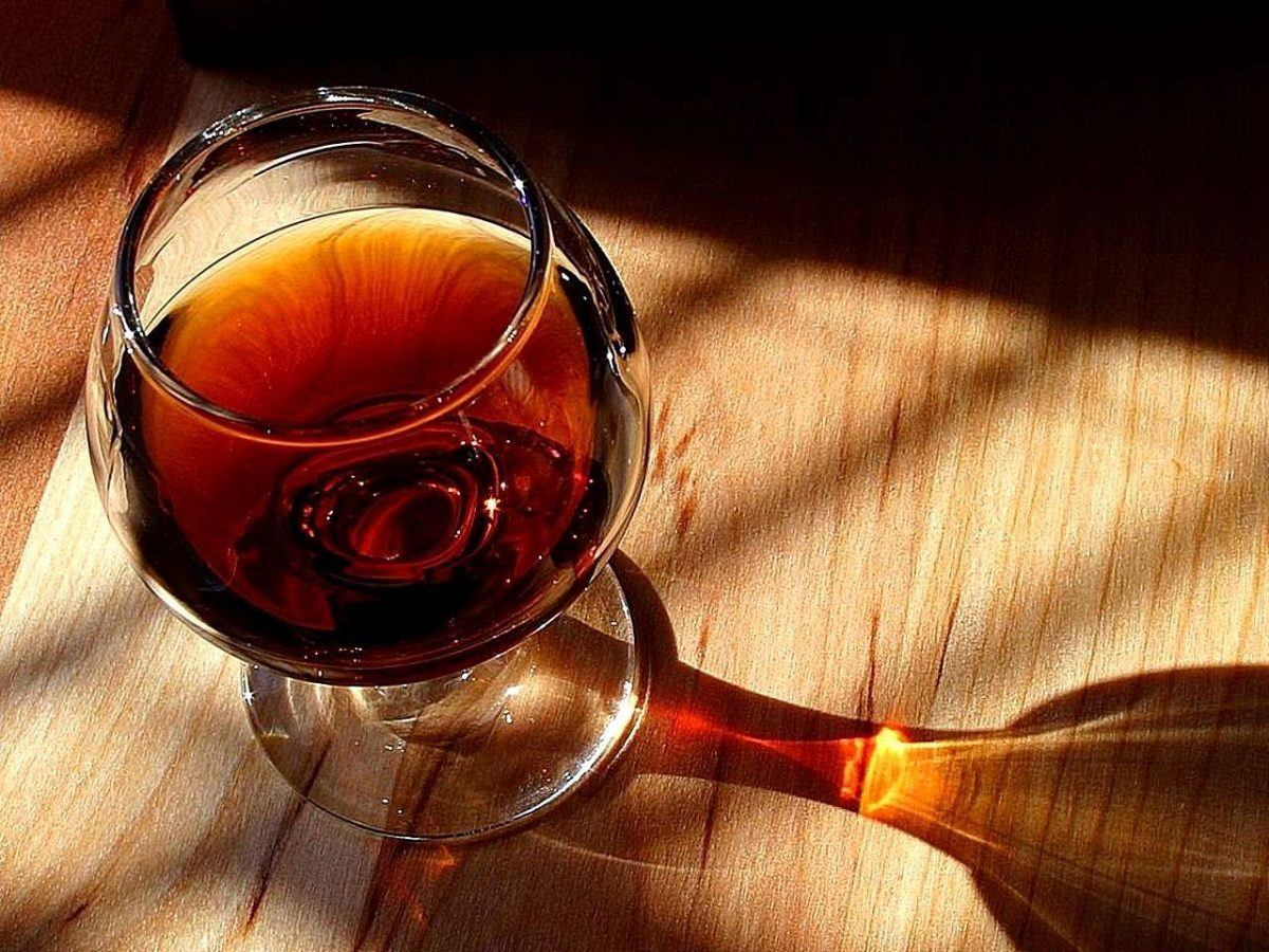 glass of port wine in portugal
