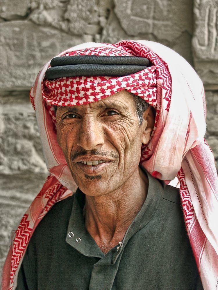 Jordan man in headdress