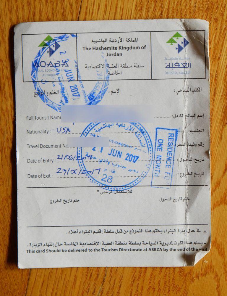 jordanian visa international passport