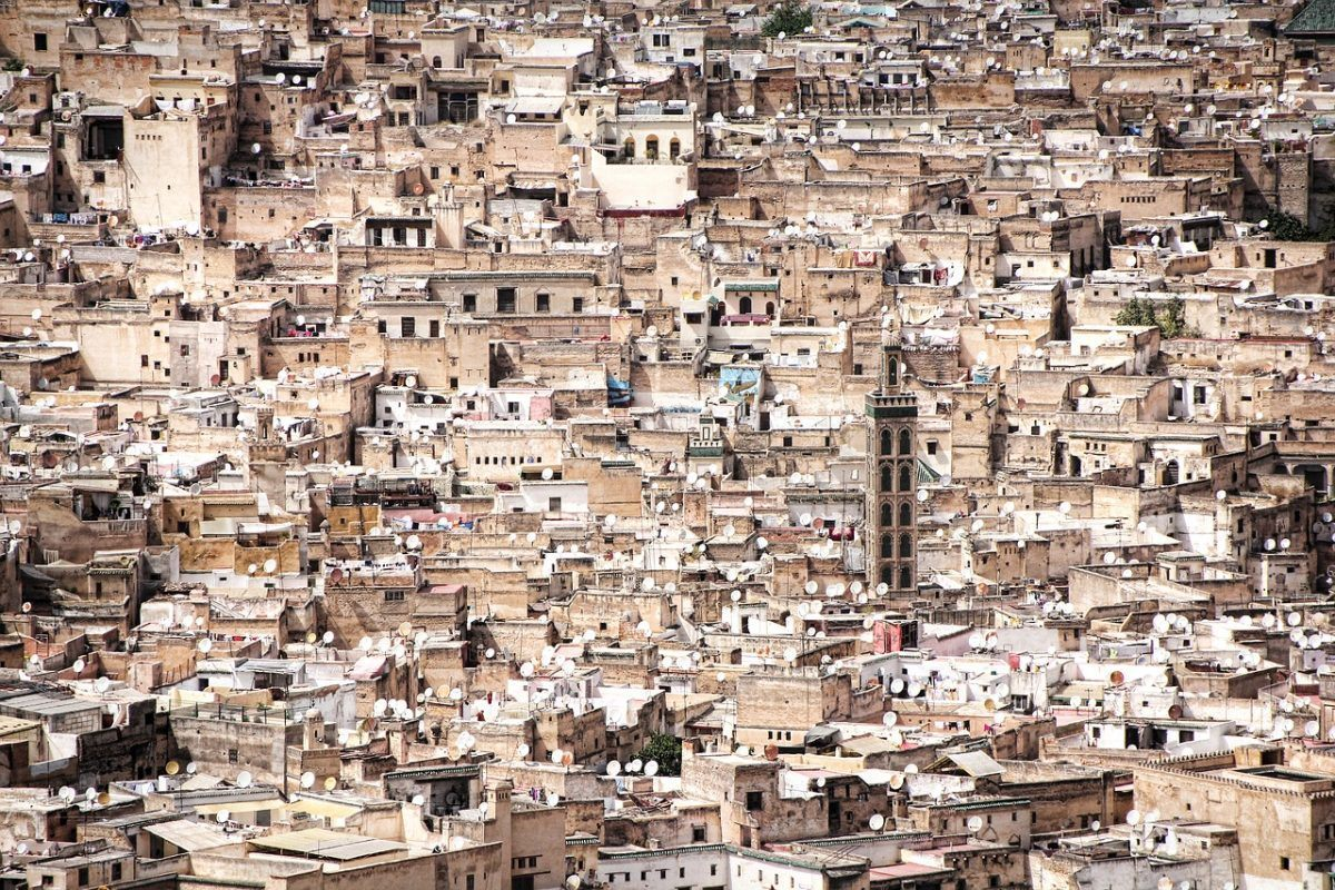 hundreds of rooftops while backpacking fes