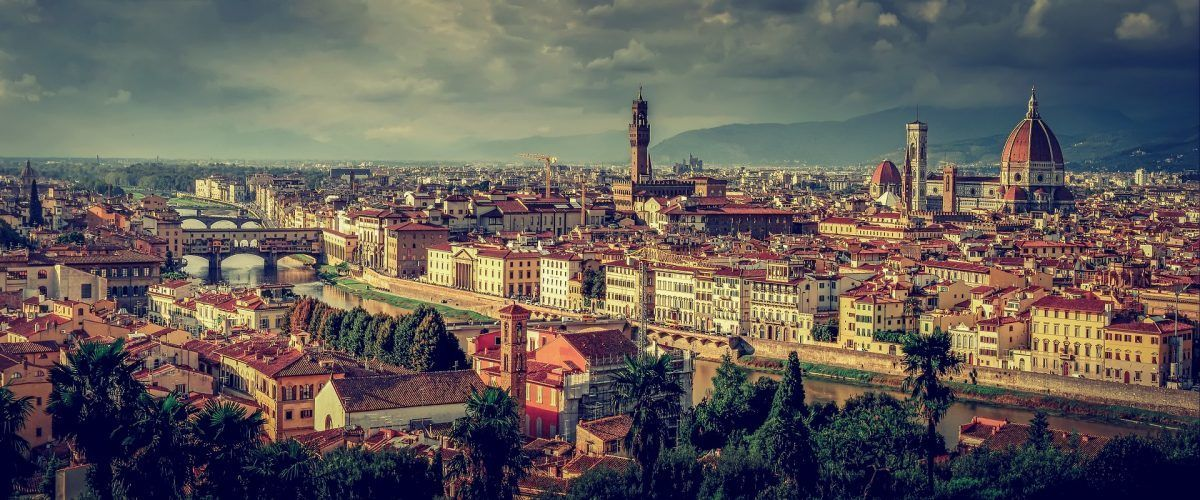 panorama of florence cityscape italy