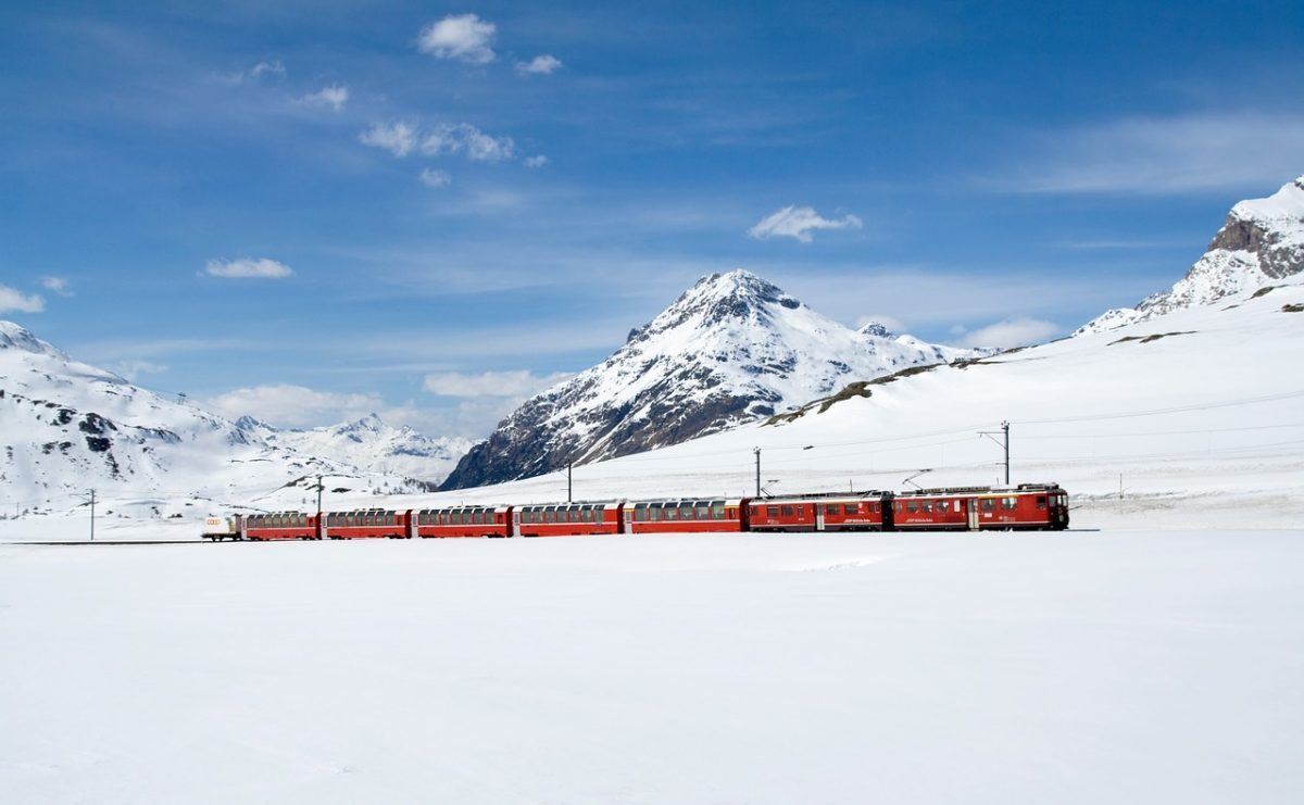 train travel in Switzerland winter
