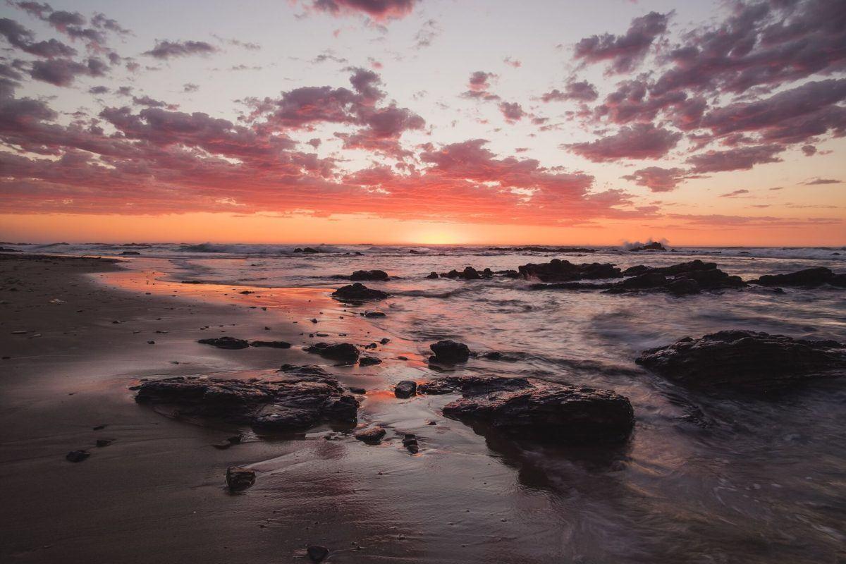 shooting sunrise while traveling africa