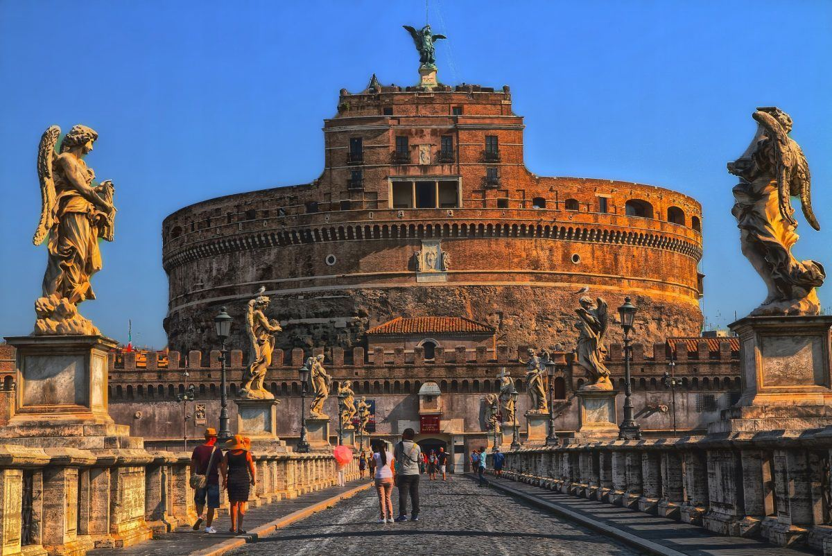 saint angelos castle in rome italy