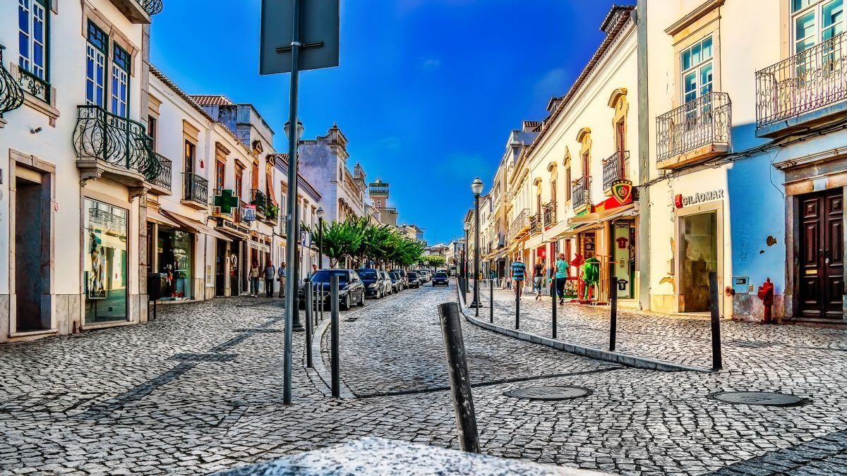 cobbled streets of tavira portugal