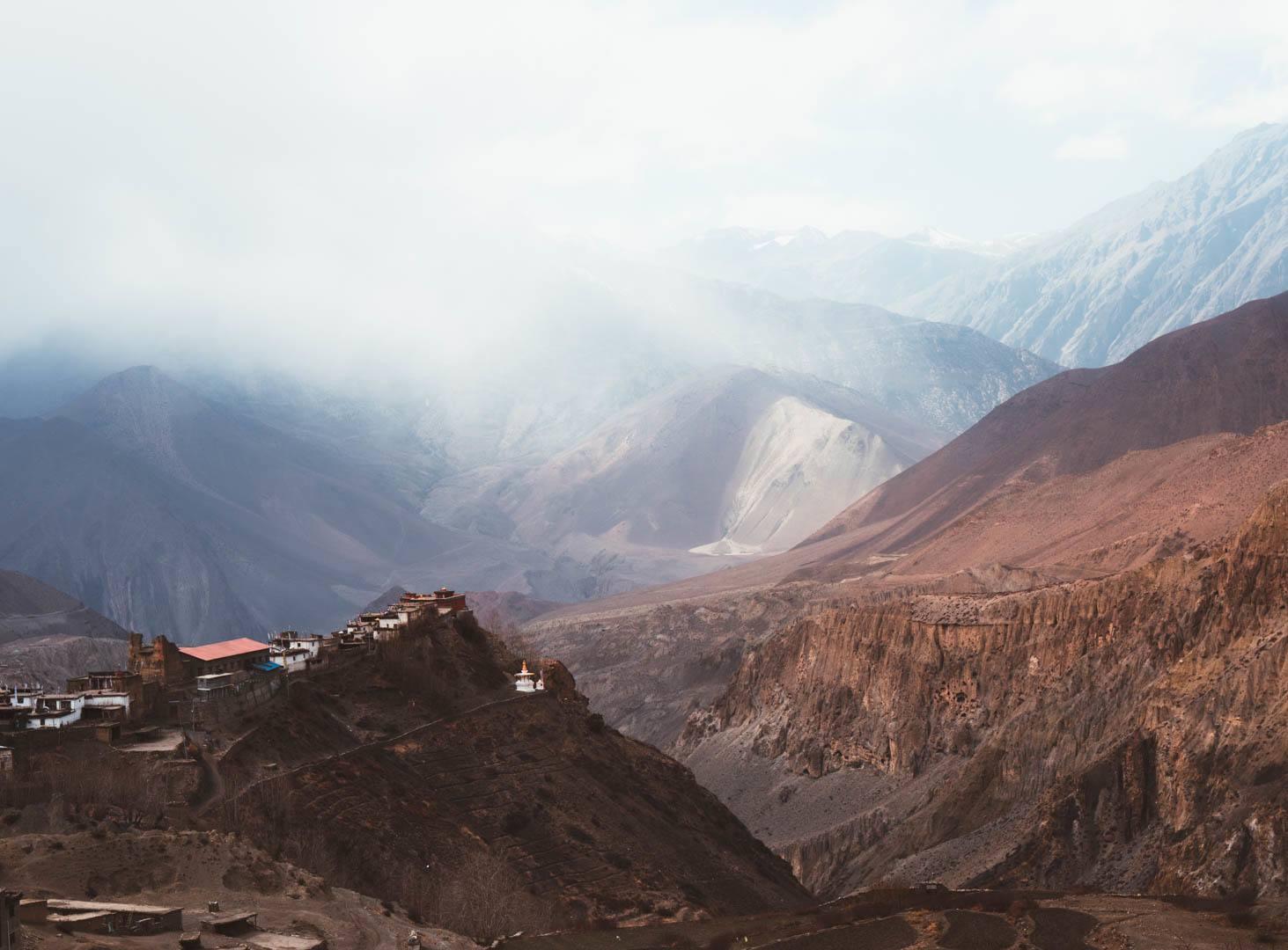 Views of the Mustang Region in Nepal