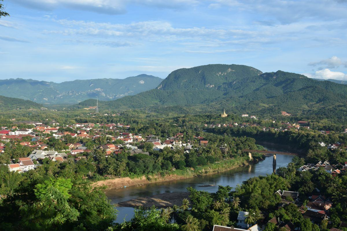 Luang Prabang - city Laos - and the Mekong River