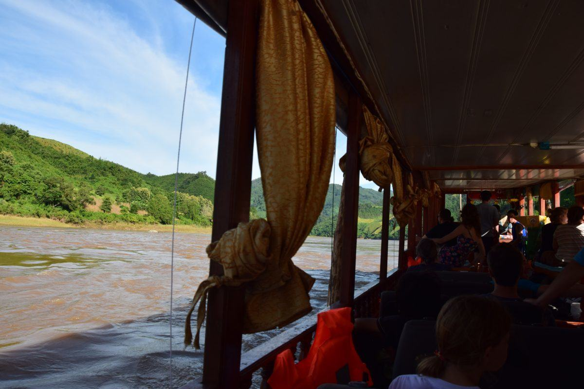 travelling on the slow boat to Luang Prabang