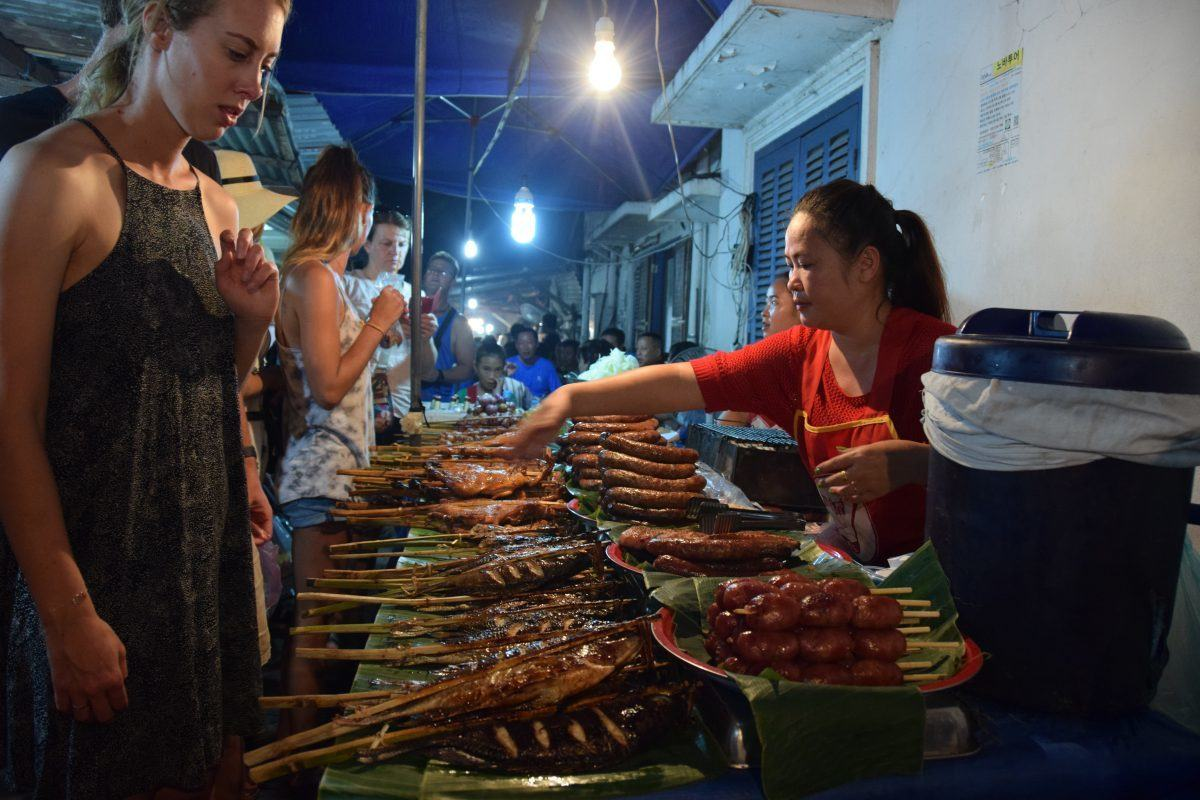 best street food in laos