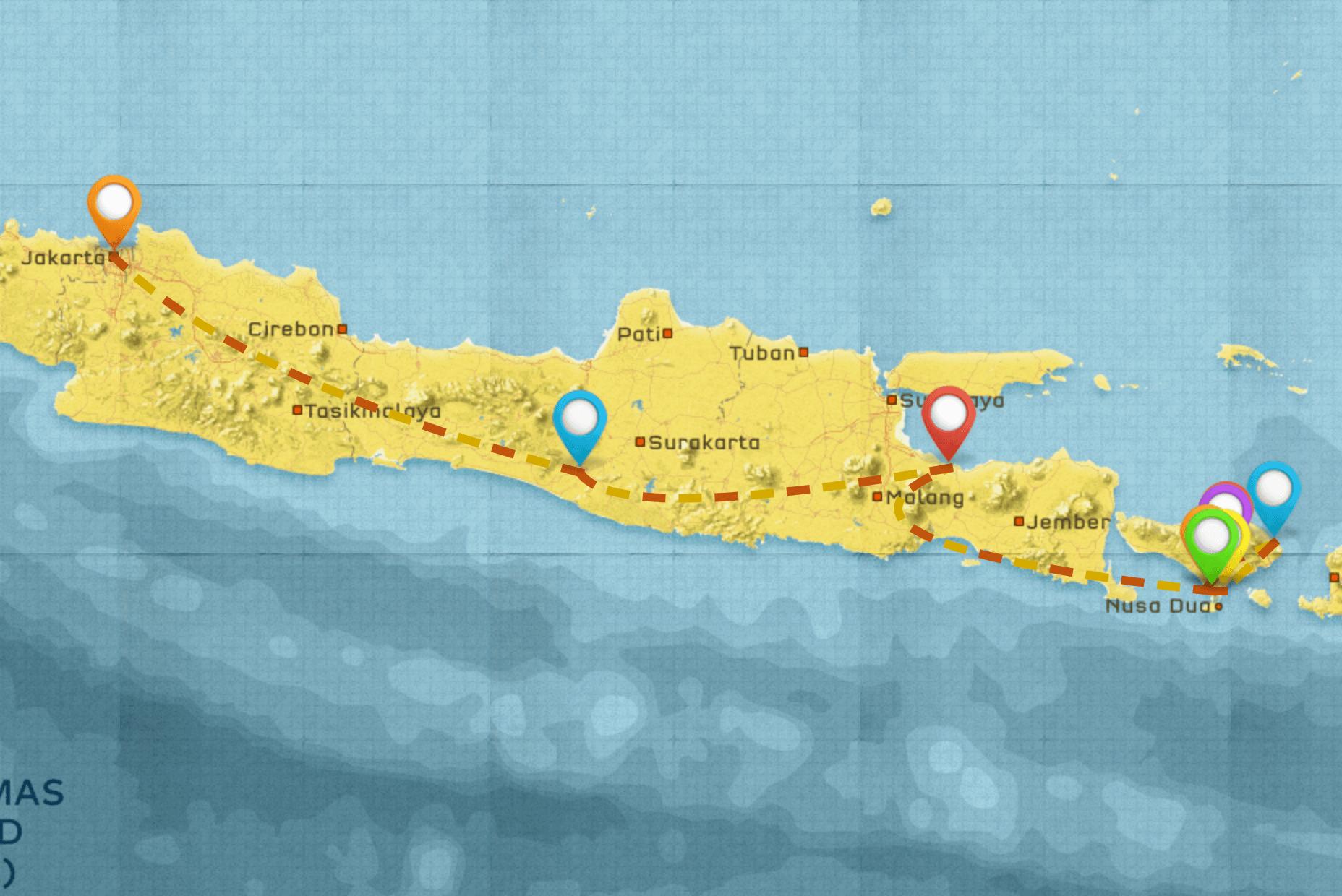 Java and Bali Indonesia Itinerary #2