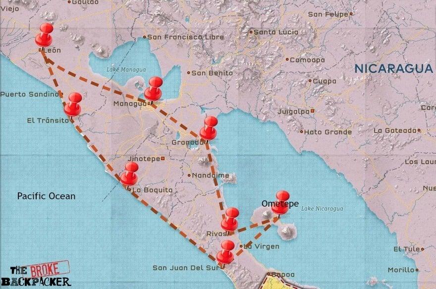 Nicaragua Travel itinerary
