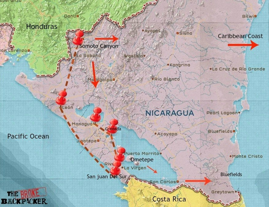 Nicaragua travel itinerary