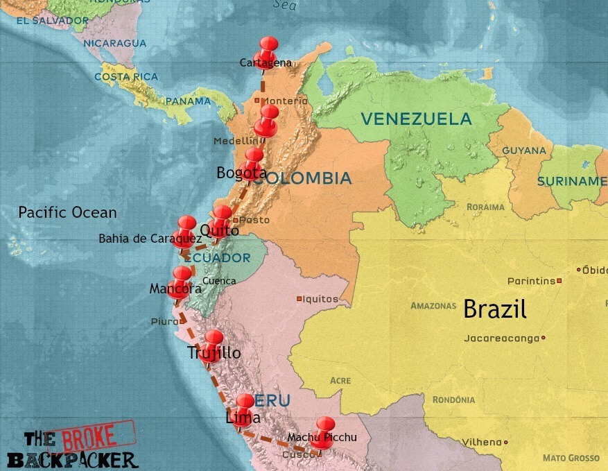 backpacking South America travel itinerary