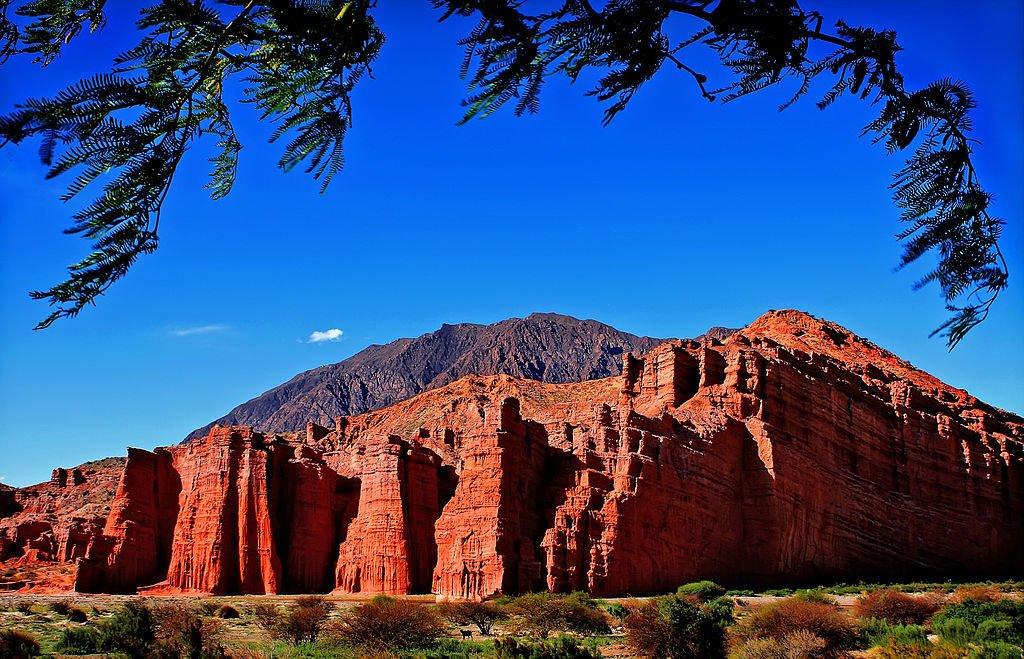 red mountains in salta region of argentina