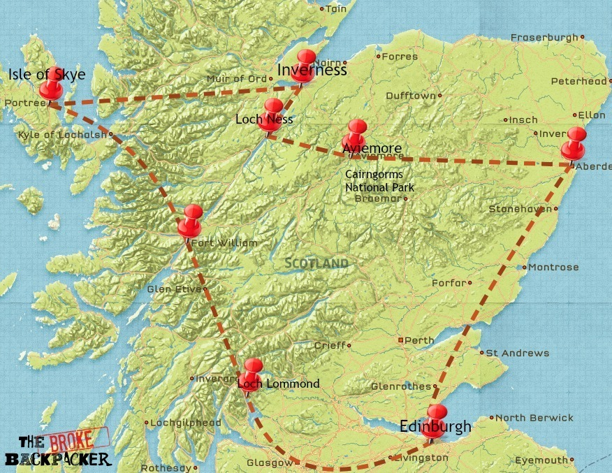 scotland backpacking itinerary