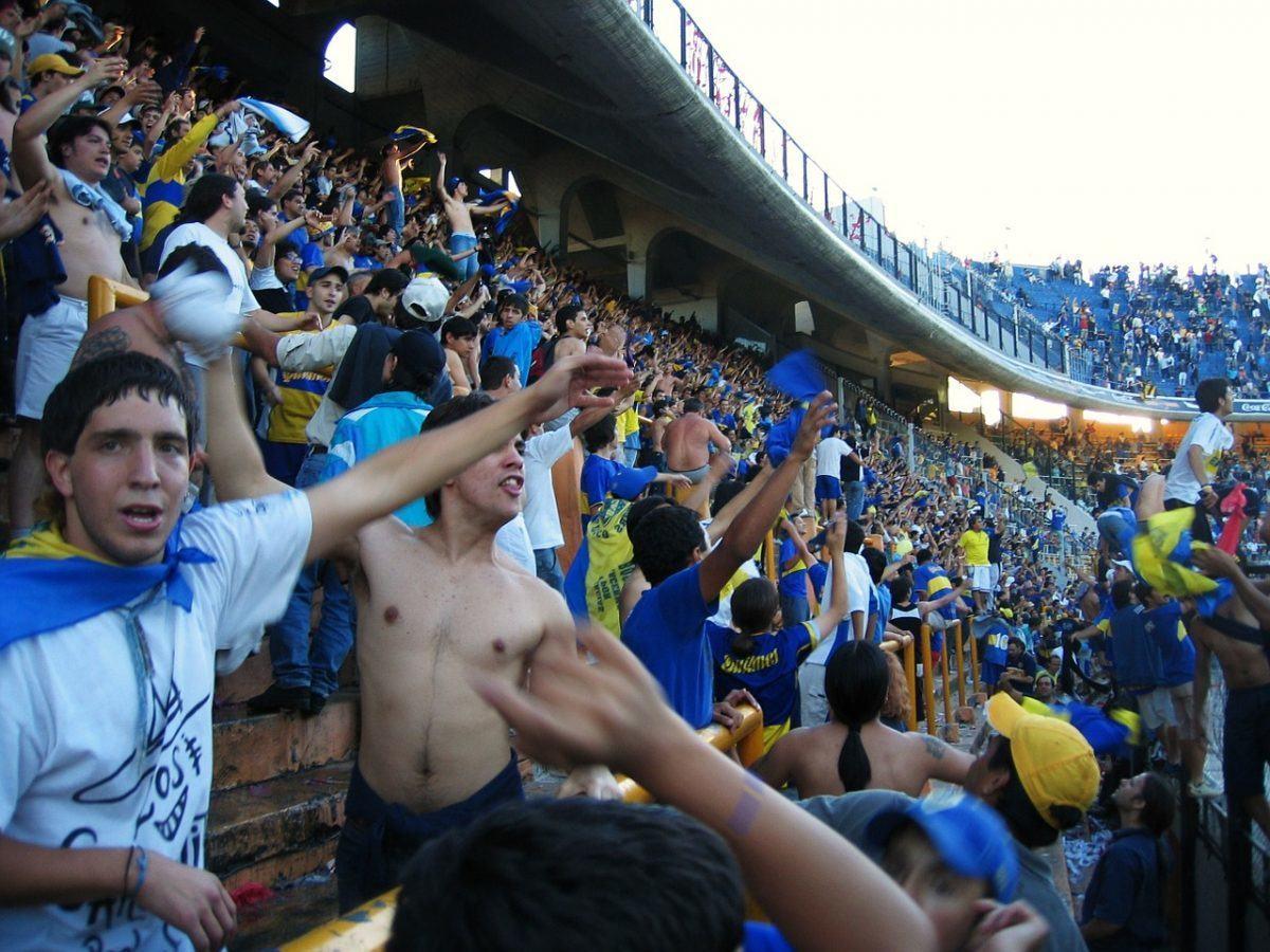argentina football fans at a match