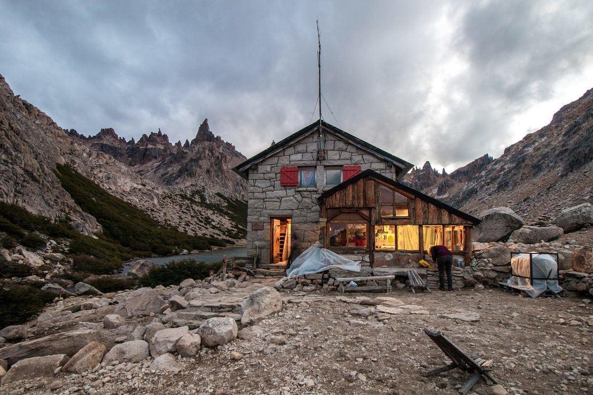 Refugio Frey: one of many shelters around Bariloche