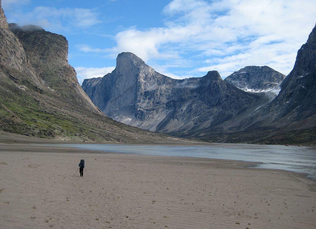 thor peak in Auyuittuq national park canada