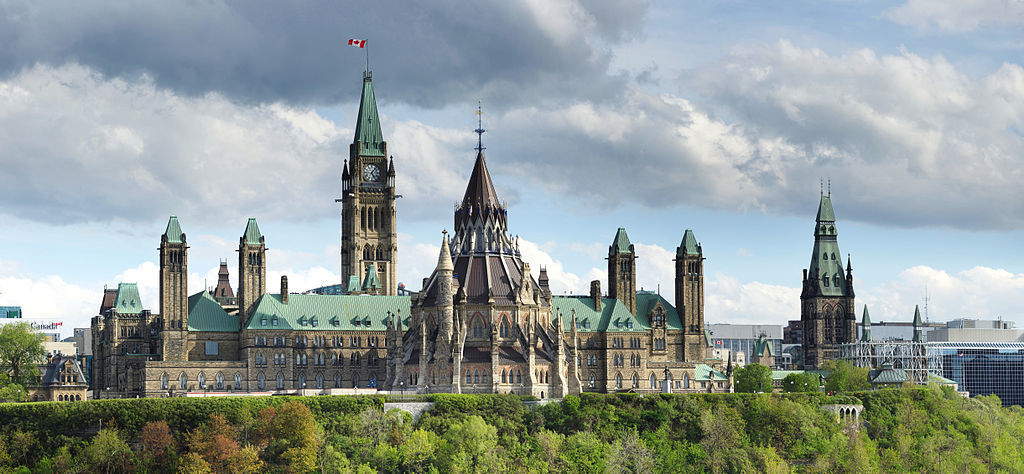 Parliament Hill of Ottawa Ontario Canada