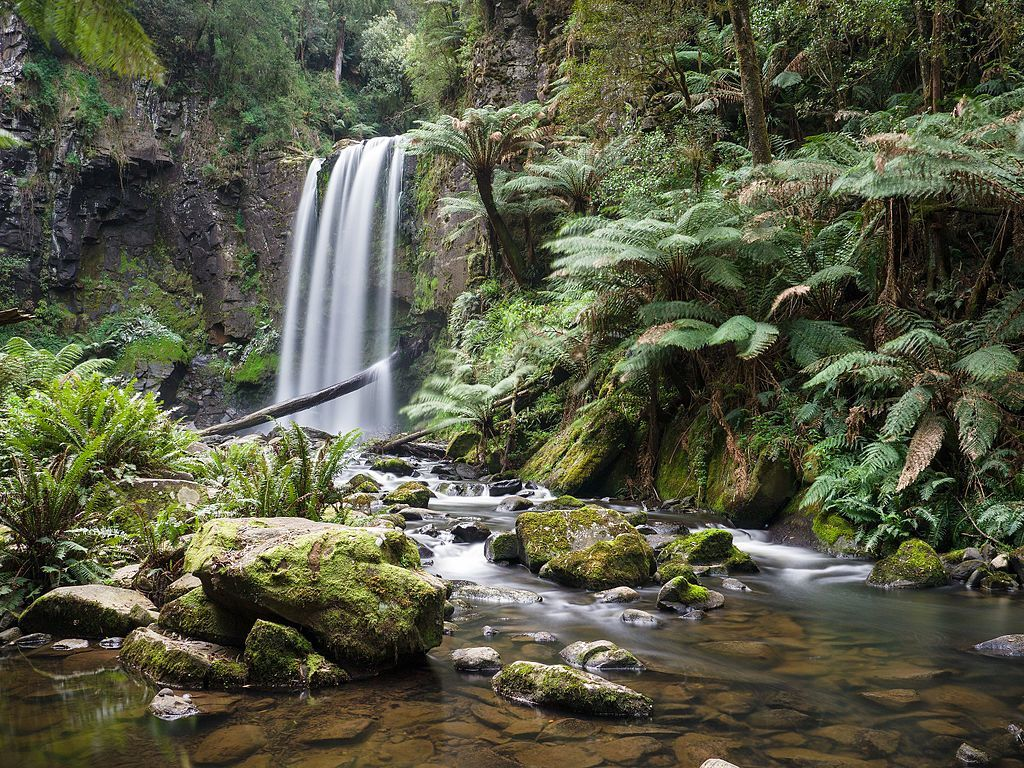 hopetoun falls great otways australia