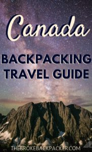 Canada Backpacking Travel Guide PIN