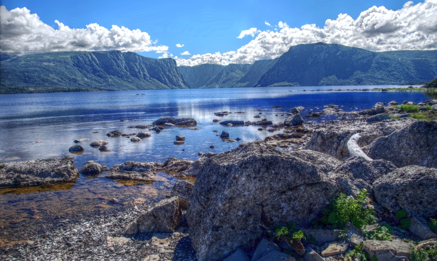 Fjord on Western Brook pond in gros morne