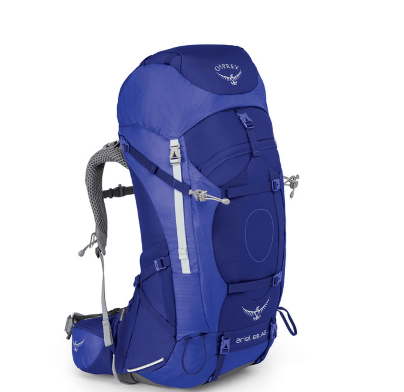 front of Osprey Ariel 65 review