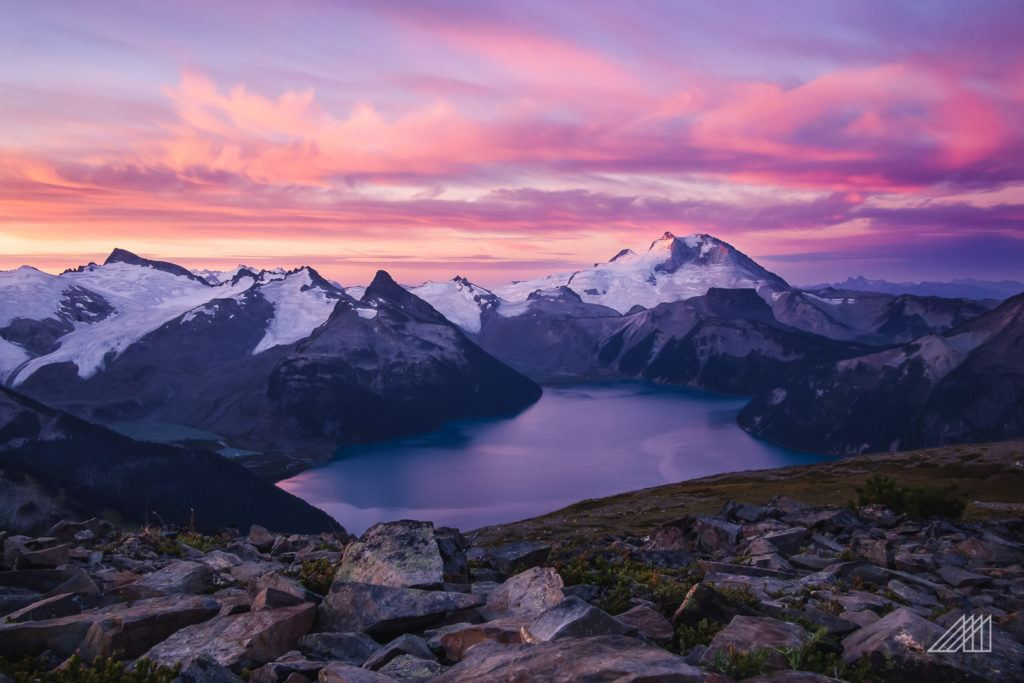 garibaldi lake sunrise in british columbia