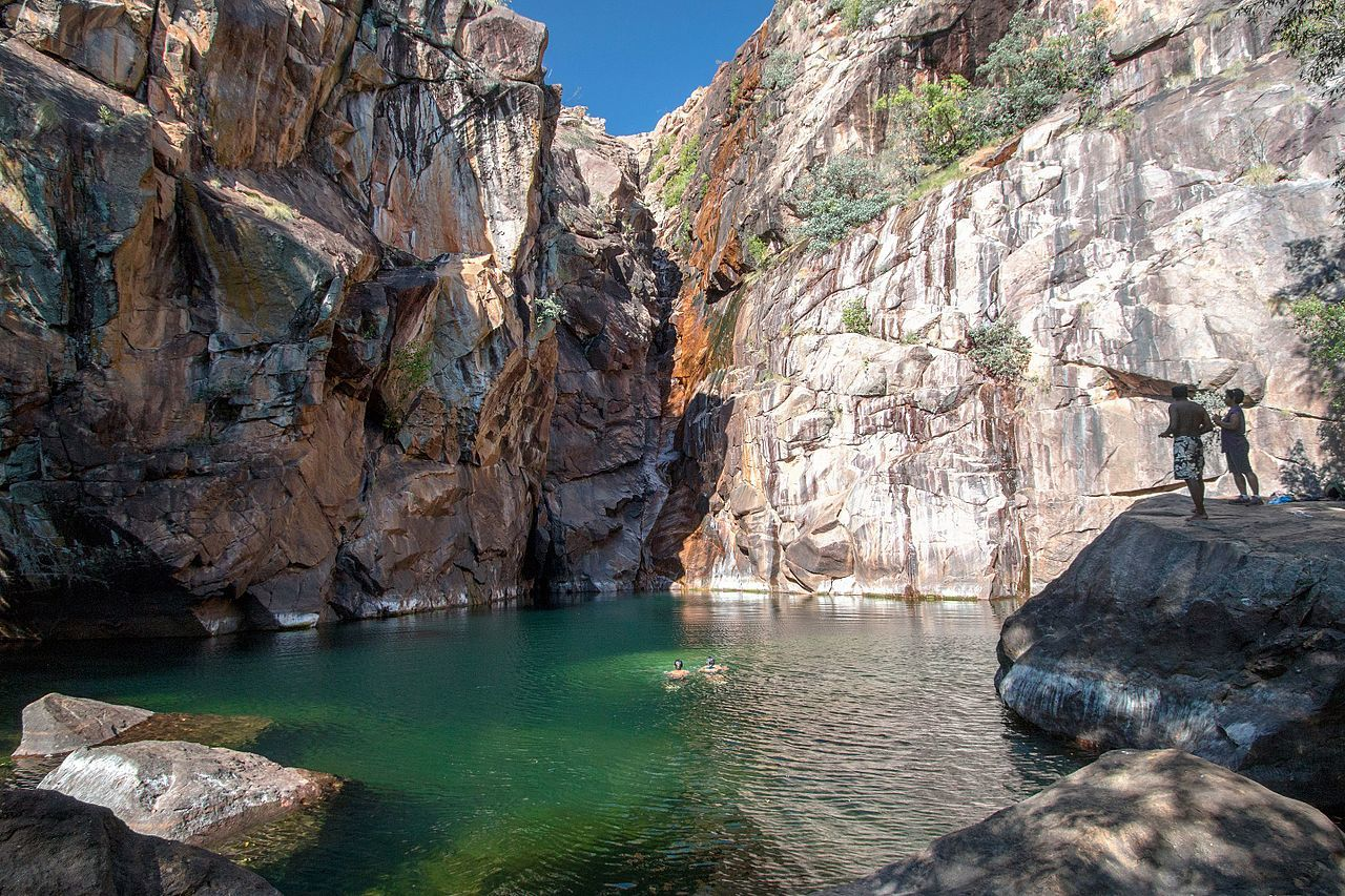 kakadu rock pool australia