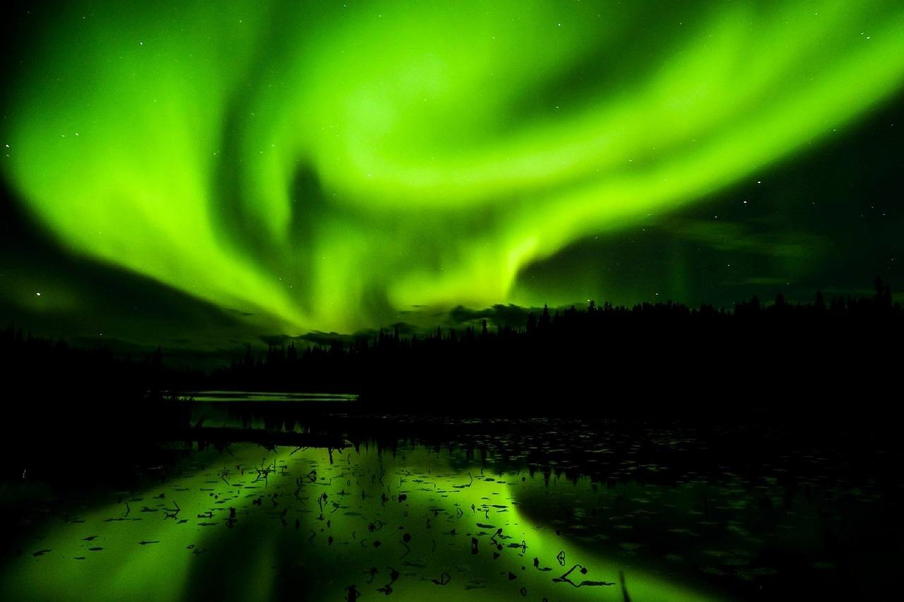 Aurora Borealis in yellowknife canada
