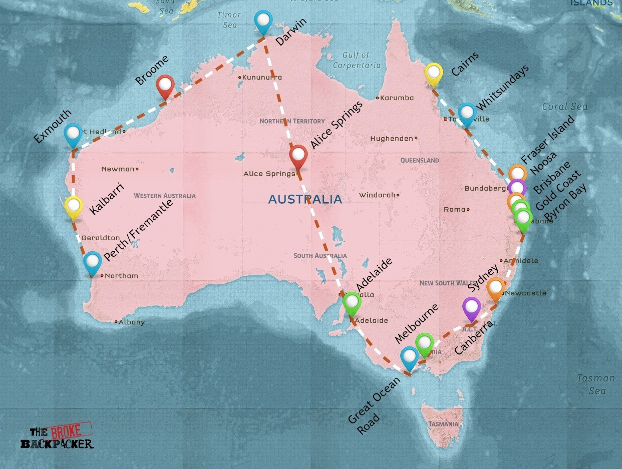 backpackign australia 3 month itinerary