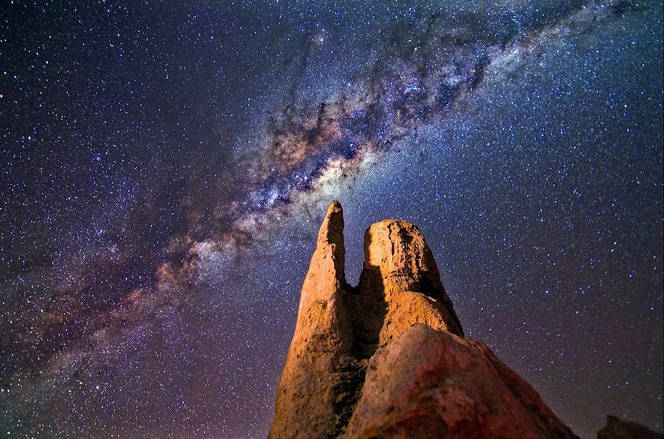 stars and milky way over the pinnacles western australia
