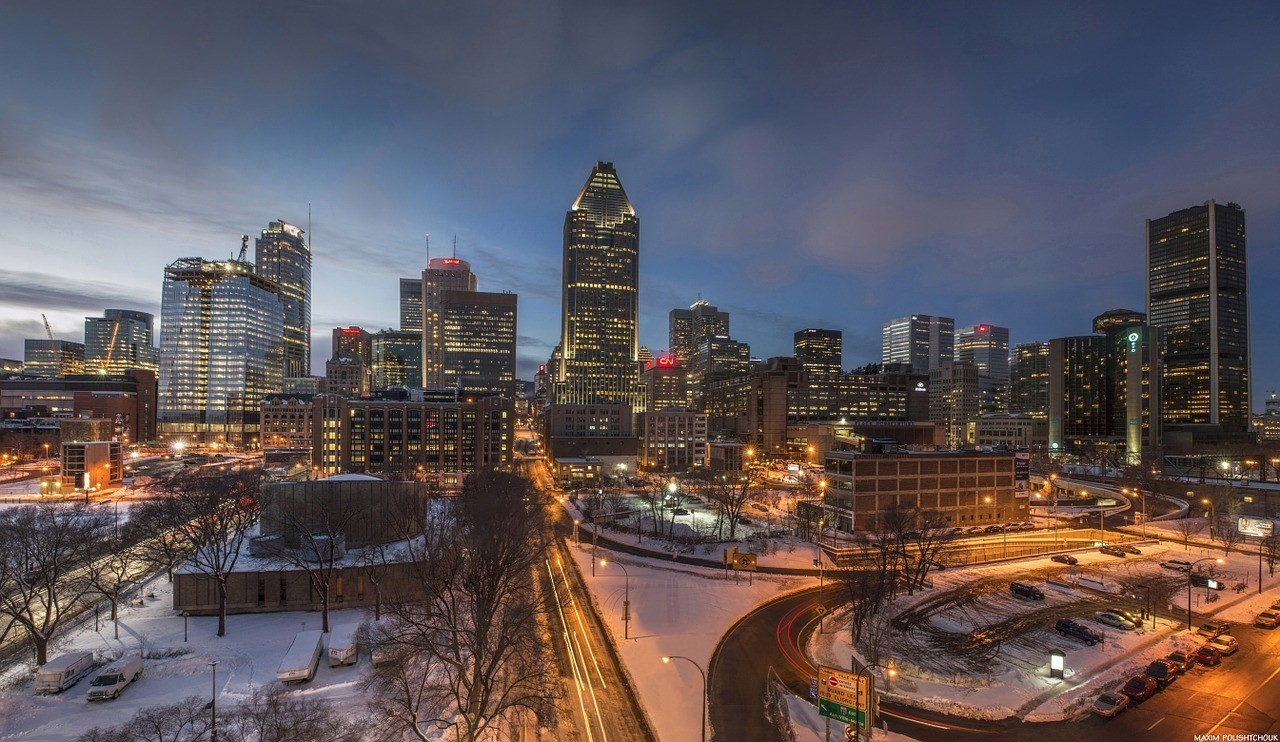 montreal city at night canada