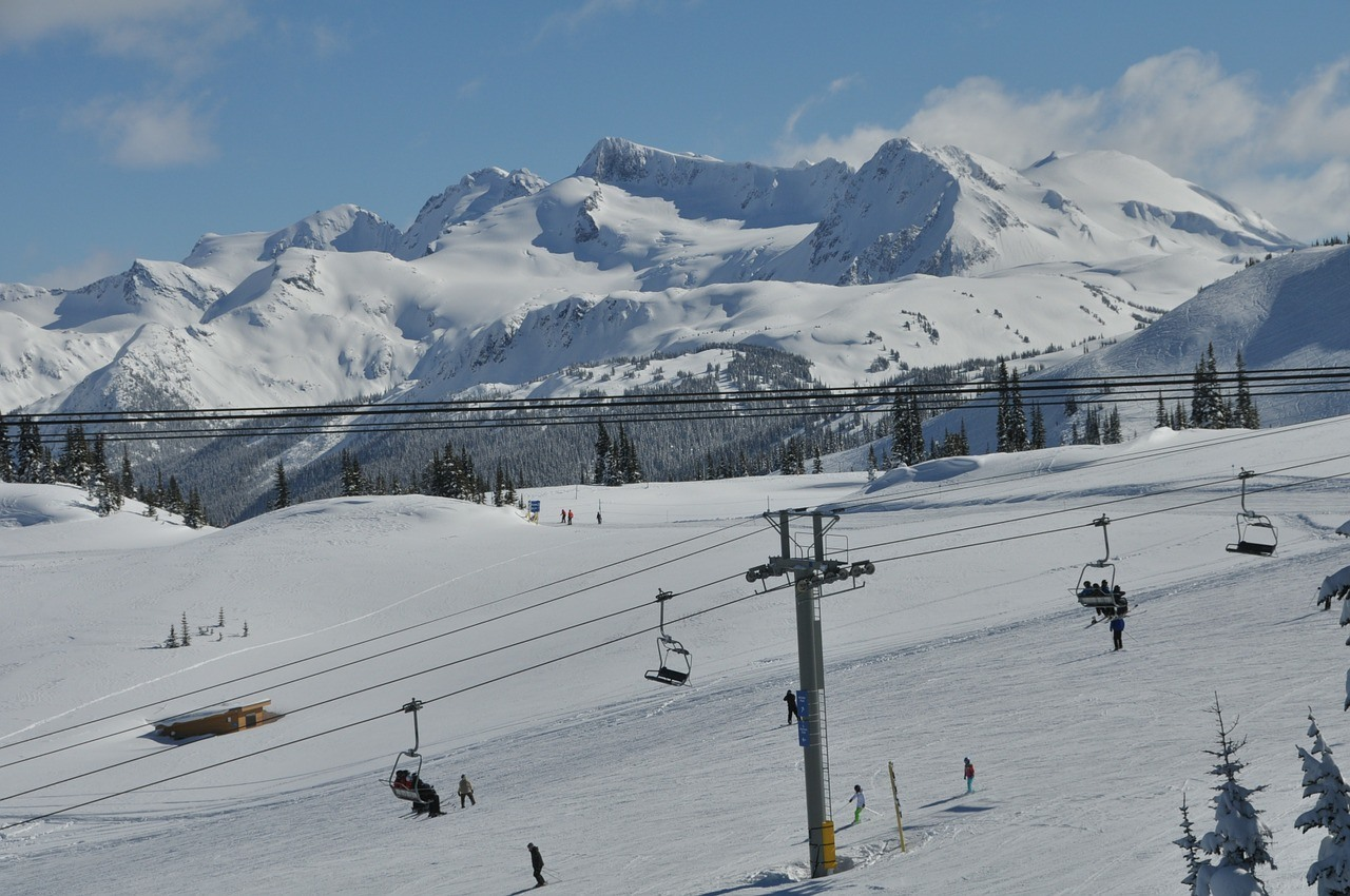 ski lift at whistler canada